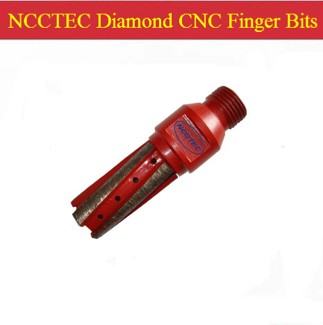 NCCTEC Diamond CNC Finger Bits 25mm (D) *40mm (L) | Milling Cutter End Mill CNC Cutting Tools | Grooving Tools For Granite Stone