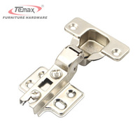 35mm Cup 1 Pair New Half Overlay Concealed Hinge Satin Nickel Kitchen Cabinet Door Hinges Without