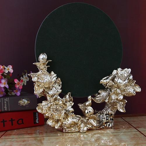 European Princess Retro Makeup Mirror Vanity Mirror Mirror Resin