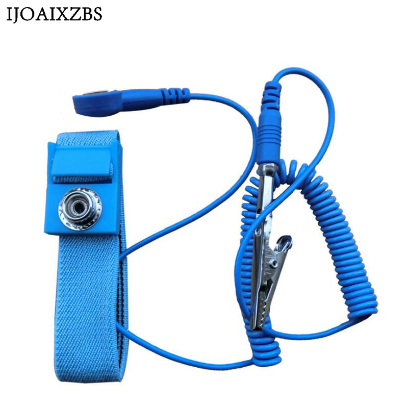Image 3 - Adjustable Anti Static Bracelet Electrostatic ESD Discharge Cable Reusable Wrist Band Strap Hand With Grounding Wire-in Safety Gloves from Security & Protection