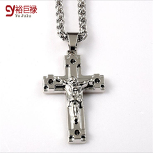 2016 Jesus Pattern Piece Pendant Christian Jewelry Gift 18k Real Gold Plated Crucifix HipHop Platinum Cross