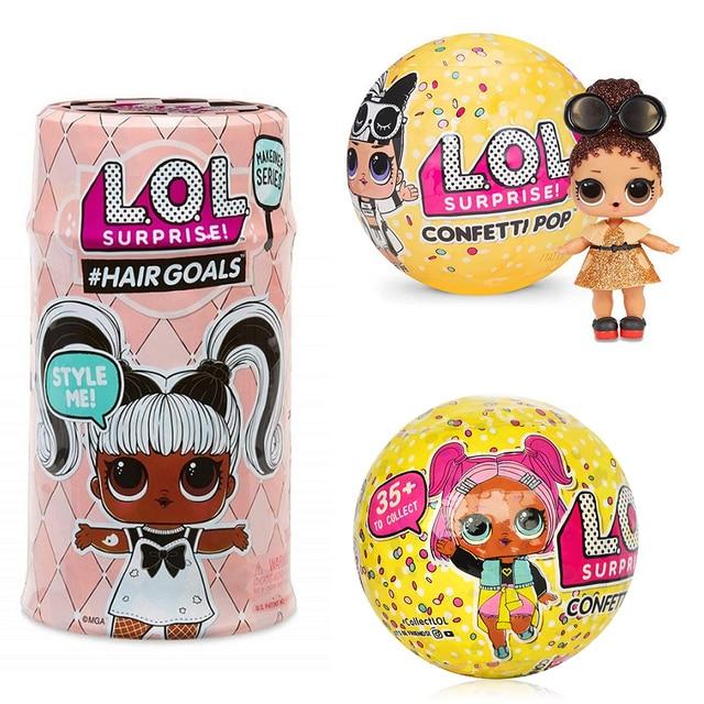 LOLS surpresa Confetti Ovo Série Pop Vestido Da Boneca Bonecas de Mudança de Cor Bola Mágica Action Figure Crianças Brinquedos Para As Crianças de Natal