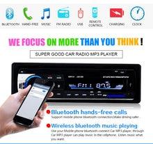 Marca nueva Multifunción Autoradio Car Audio Estéreo En El Tablero de Radio FM Disco USB de Tarjetas SD Reproductor de MP3 Aux Receptor De Entrada con Mando A Distancia
