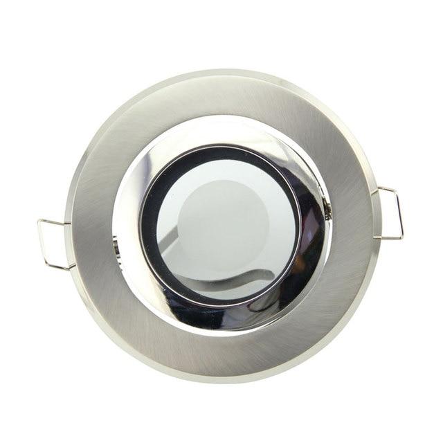 Free Shipping 8PCS IP44 recessed Ceiling light holder round MR16 spotlight halogen lamp fixtures