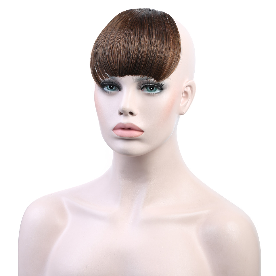DIFEI 3 Colors Girls Clip Bangs Synthetic Pure Colors Heat-Resistant Extended Fiber Bangs