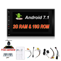 2din Android 7.1 Universal Touch Car DVD PC Tablet double Audio 7'' GPS Navi Car Stereo Radio No DVD Navigation Video Capacitive