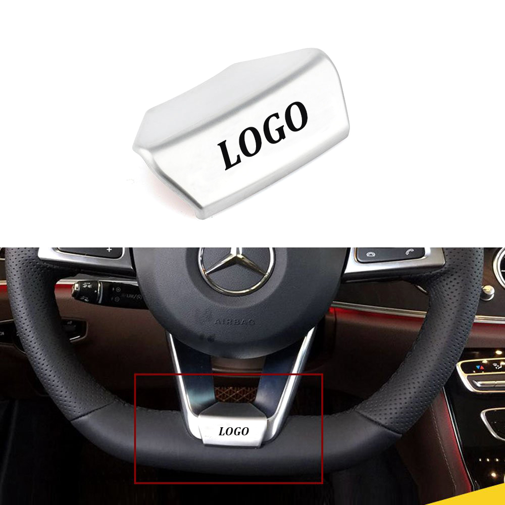 NEW Car Steering Wheel AMG LOGO Emblem Car Sticker For AMG Mercedes Benz W212 W211 W210 GLC GLA E200L C/E Class Sports Edition