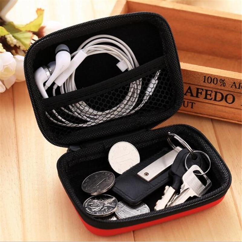 6Pcs Mini Case Storage Bag Pouch Box for SD TF Card Earphones Headphones Headset