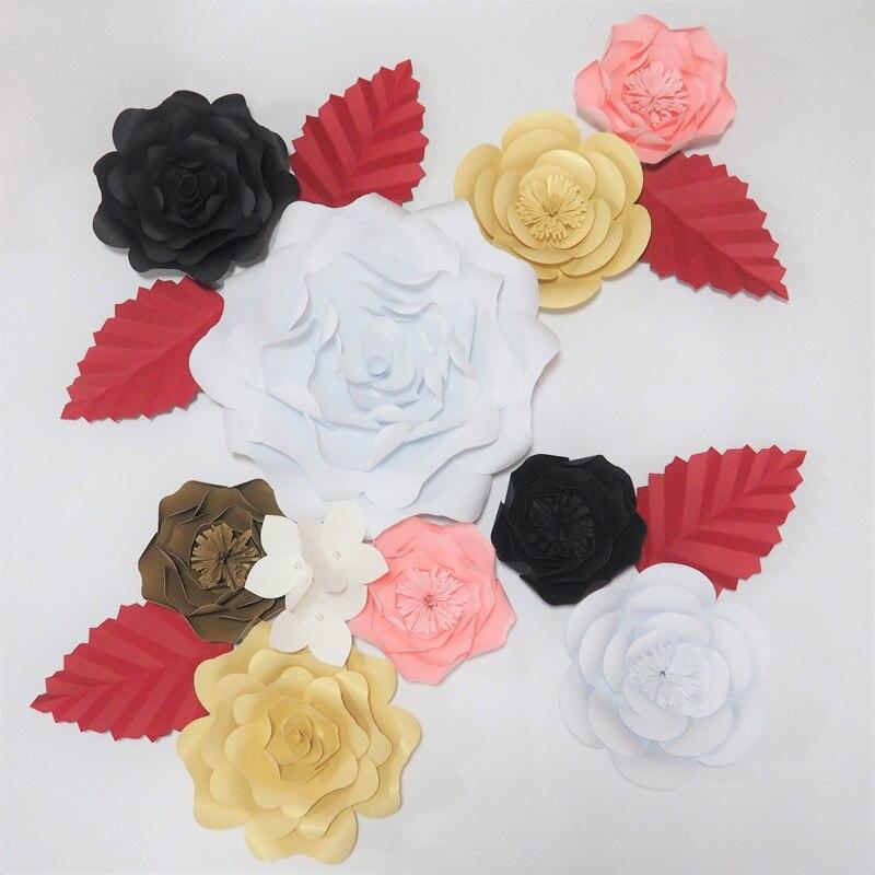 2018 DIY Giant Paper Flowers Wedding Backdrop Half Made