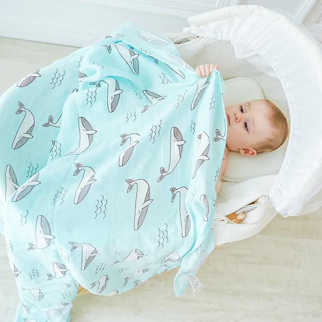 e9e37877e50b Ant Aden Baby Blanket 100% Bamboo Super Soft Baby Swaddle For ...