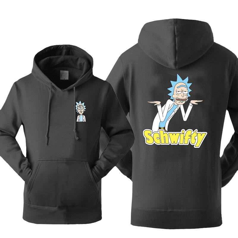Amine Funny Rick and Morty Schwifty Hoodies Men Cartoon Hooded Sweatshirt Spring Autumn Loose Casual Harajuku Brand Clothing