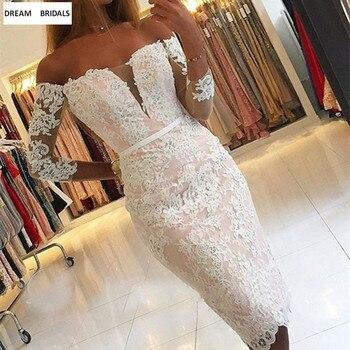 Noble Lace Vestido De Madrinha Vestidos 2019 Sheath Beading Appliques Long Sleeves Mother of the Bride Dress