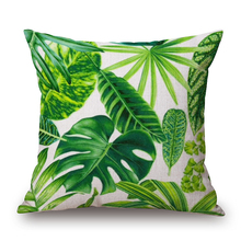 Green Tropical Plants Printed Pillow Cases