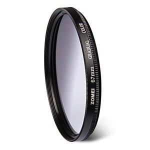 Image 2 - Zomei 52mm 55mm 58mm 62mm 67mm 72mm 77mm 82mm graduated filter 캐논 니콘 카메라 렌즈 용 점진적 회색 중성 농도 필터
