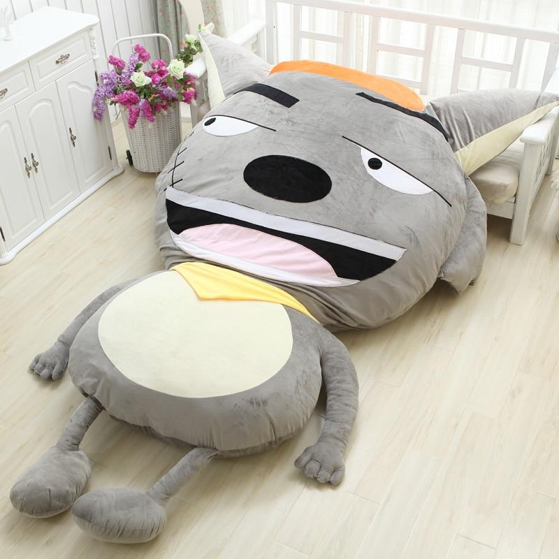 Largest Cartoon Plush Bed Mattress Mat Cushions Home Decor Pleasant Goat And Big Big Wolf China Anime Chinese Style Bedding Set