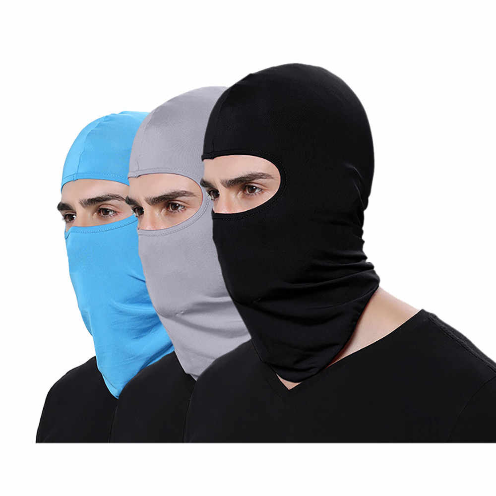 Cycling Neck Motorcycle Face Mask Winter Warm Ski Snowboard Wind Cap Police Balaclavas Outdoor Sports Tactical Face Shield #M