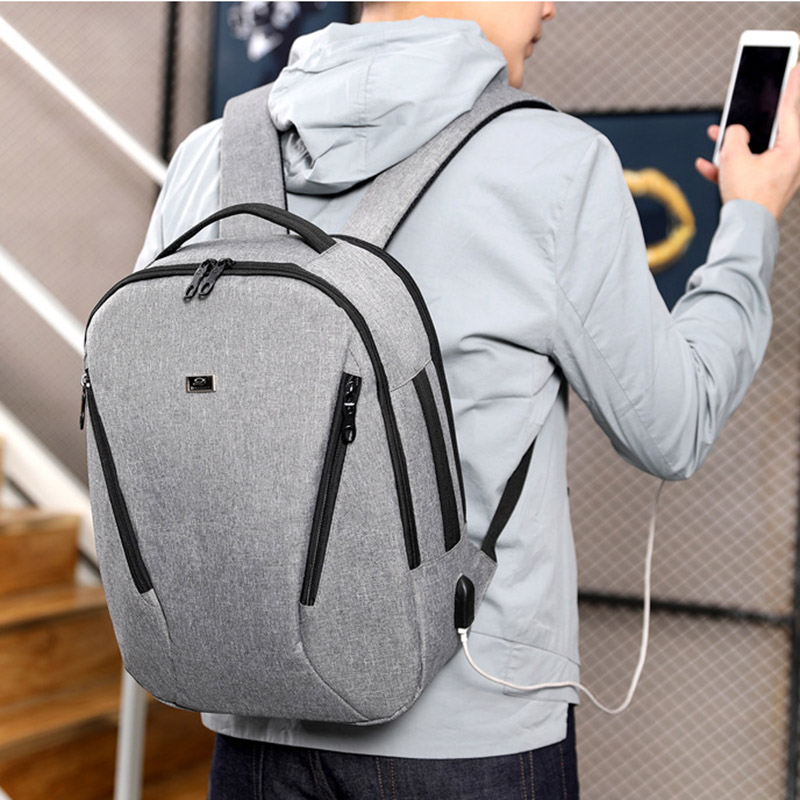 Hot Brand Nylon Backpack Men USB Charge Notebook Laptop Backpack Waterproof Fashion Male Mochila Travel Male School Bag Rucksack