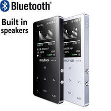 Newest Hot Metal Bluetooth MP3 Music Player Built-in Speakers Portable Digital Audio Player with FM Radio Voice Recorder E-book