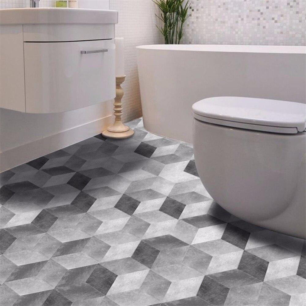 Yanqiao Grunge Effect Hexagon Floor Stickers Wall Art Tiles Decor