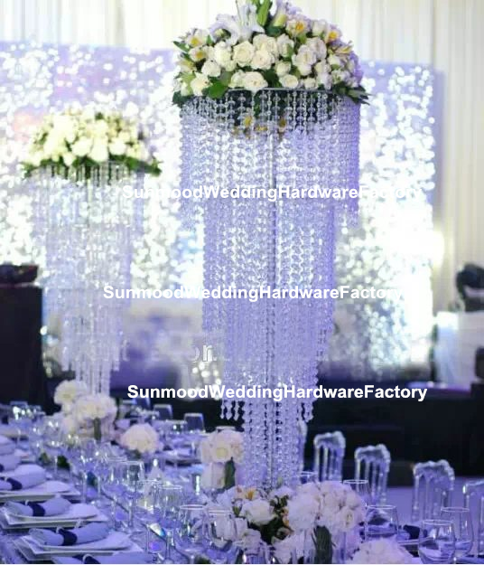 Whole Tall And Large Crystal Flower Stands Wedding Table Centerpiece
