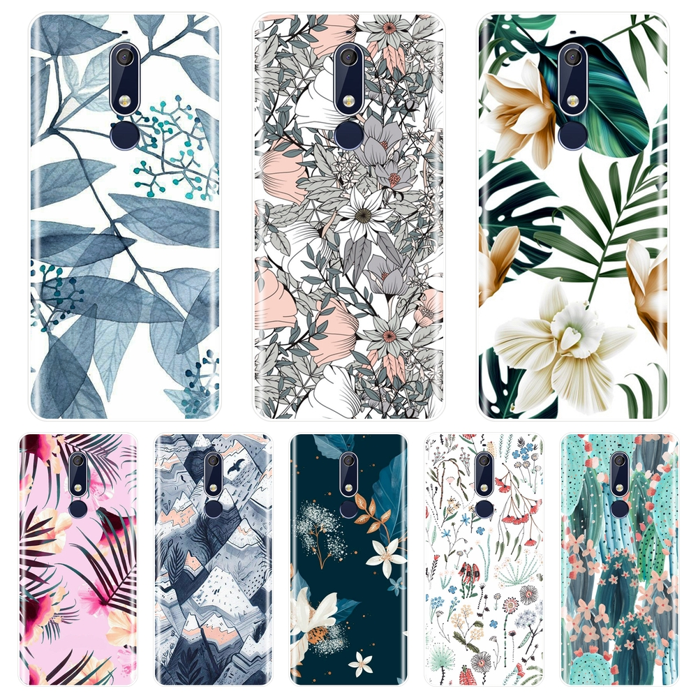 <font><b>Back</b></font> <font><b>Cover</b></font> For <font><b>Nokia</b></font> 2.1 3.1 5.1 6.1 <font><b>7.1</b></font> Cactus Flower Floral Leaf Soft Silicone Phone Case For <font><b>Nokia</b></font> <font><b>7.1</b></font> 6.1 5.1 3.1 2.1 Plus image