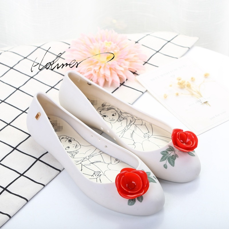 Hohner Shoes For Women 2019 New White Flat Jelly Sandal Nude Cute Shoes Cheap Closed -3969