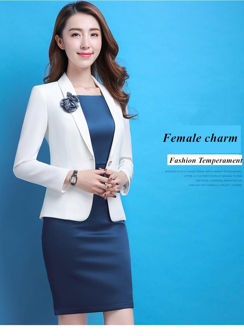 Professional Women white blazer 2018 New spring fashion clothes ... 7e515281914d