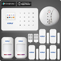 KERUI G18 ios android app control GSM alarm system with touch screen TFT color display easy operation  home alarm system