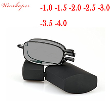 WEARKAPER Folding Sun Photochromic Finished Men Women Myopia Eyeglasses Frame Sun glasses optical Myopia Eyewear Oculos Male