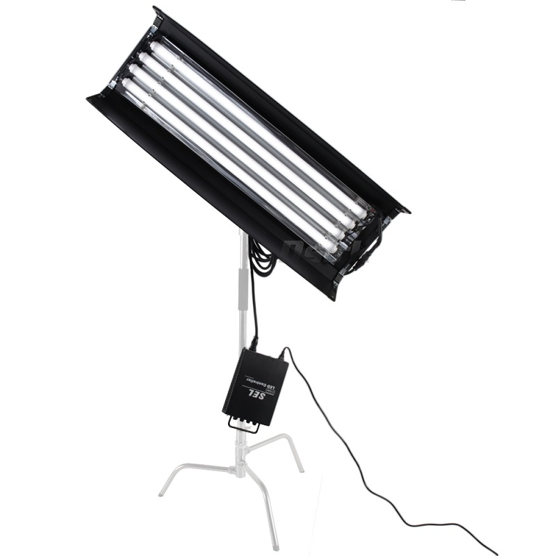 New Bi color 4FT 4 bank LED Kinoflo 3200K-5600K dimmable daylight with ballast for Film lighting High CRI for Broadcasting new bi color 4ft 4 bank led kinoflo 3200k 5600k dimmable daylight with ballast for film lighting high cri for broadcasting