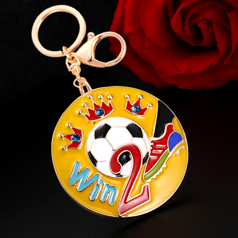 Win NO.2 Jewelry New Hot Fashion Soccer Keychain Football Championship LOGO Metal Keychain Supporting Favorite Players EC