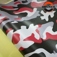 5/10/15/20/25/30m*1.52m New Arrival Red Black Gray White Camouflage Car Sticker Camo Vinyl for Auto Vehicle Body Wraps