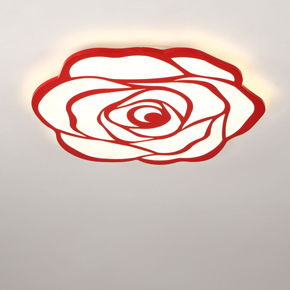 JJD Surface mounted Rose Shape ceiling lamp Ultra-thin 5cm Acrylic led ceiling lights for living room bedroom