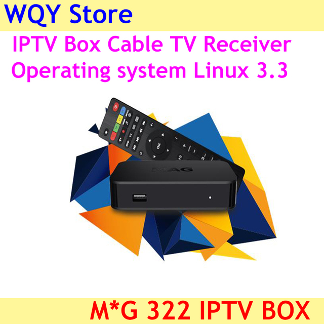 US $79 02 10% OFF|2019 New arrival MAG 322 IPTV Box Cable TV Receiver Live  Channels Decoder MAG322 powerful set top box-in Set-top Boxes from Consumer