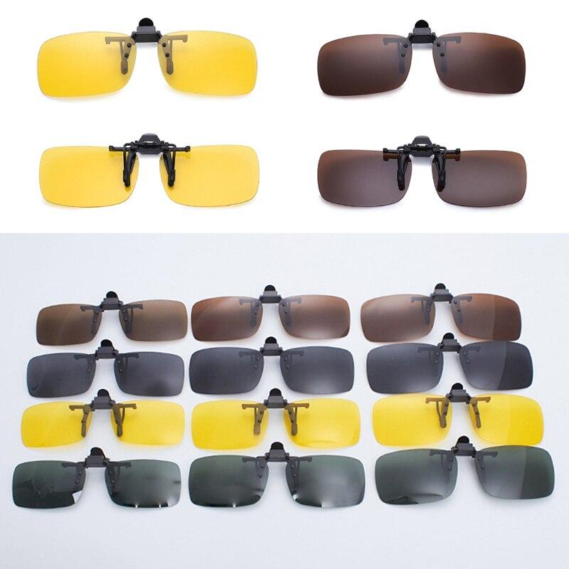Clip On Sunglasses Driving Night Vision Lens Polarized Driving Sunglasses Male Anti-UVA  For Men Women Driver Goggles