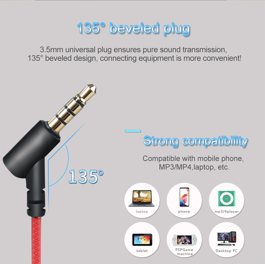 Wired Earphone With Micphone For Computer Mobile Phone Games Wired Headset Hifi Earphone In-ear Earphone Wired Gaming Headset   (13)