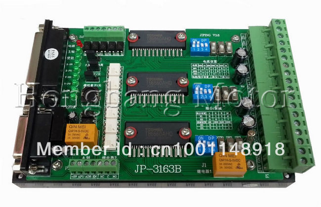 Free shipping!CNC 3 Axis Controller TB6560 Stepper Motor Driver Board with 0-10V spindle regulation cnc 3 axis controller tb6560 stepper motor driver board with 0 10v spindle regulation one db25 caple