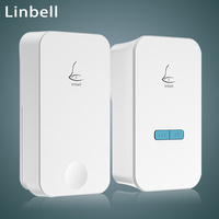 Linptech Smart Wireless Doorbell With Remote Control No Need Battery 38 Ringtones 110 240V White UK