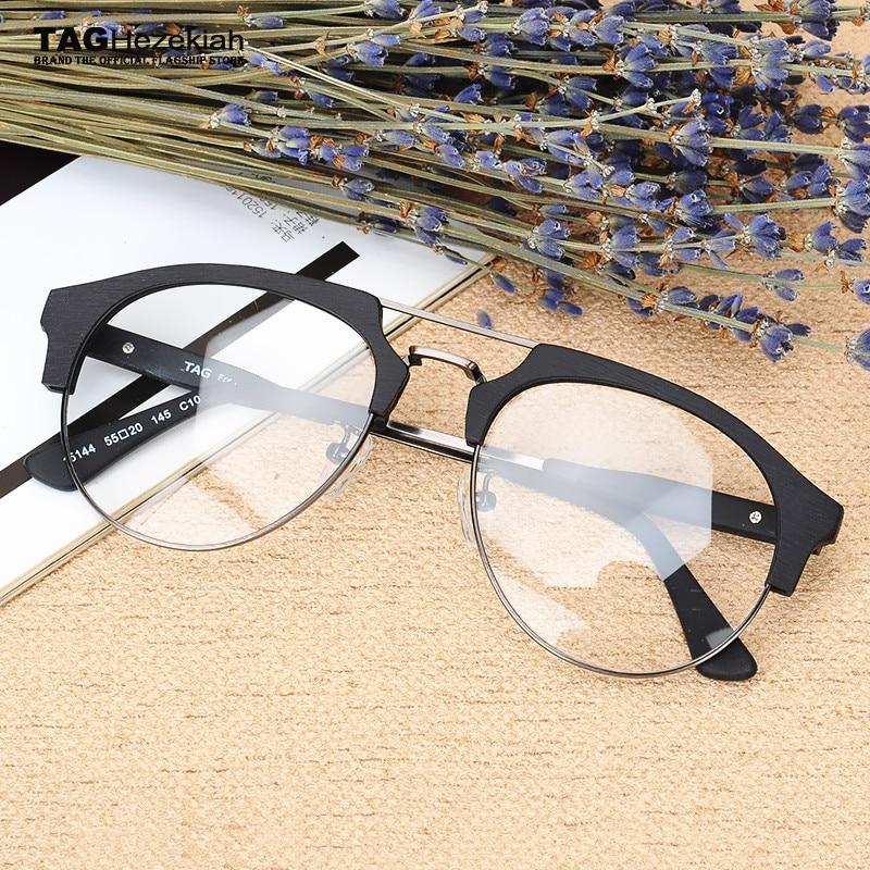 TAG Hezekiah Brand 2017 New Fashion Wood Optical Glasses Frame men ...