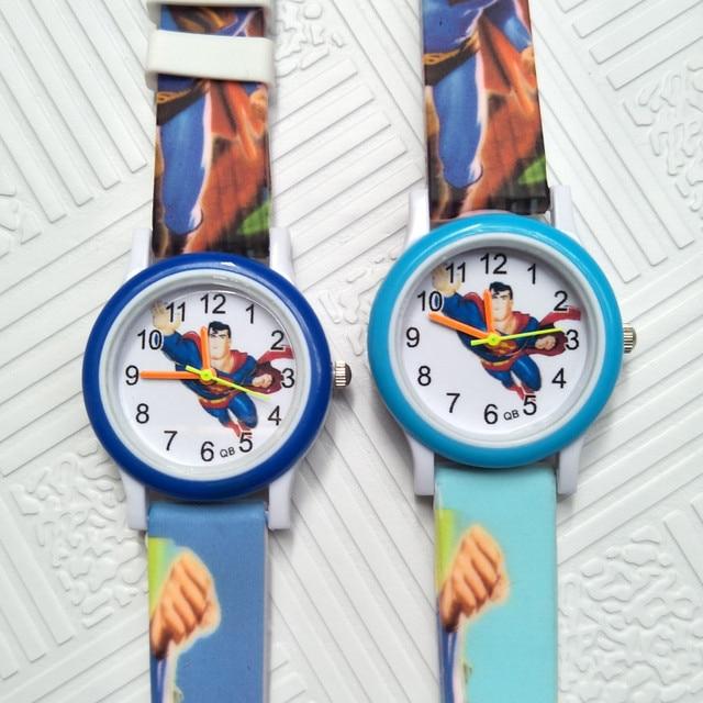 Save the world Superman Children's Watches 3D Cartoon Kids Wrist Watches kid Bab