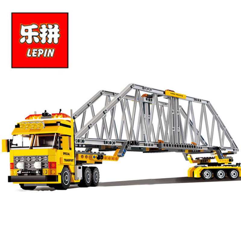 In Stock Lepin Sets 02041 389Pcs City Figures Heavy Loader Model Building Kits Blocks Bricks Educational Kids Toys Gift 7900