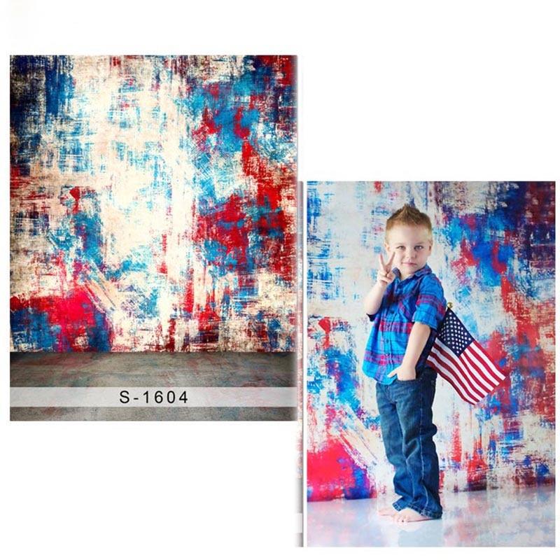 어린이 사진 스튜디오 1604 신생아 폴리 에스테르 배경에 대 한 낙서 벽 비닐 사진 배경