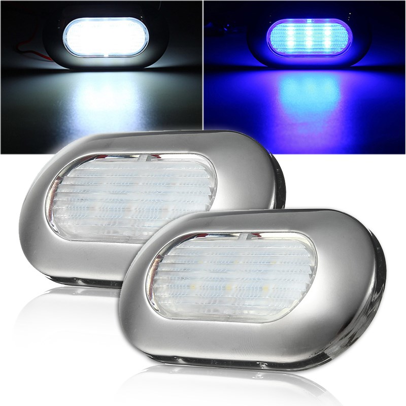 LED Marine Boat Transom Stainless Steel Anchor Stern Light Waterproof White