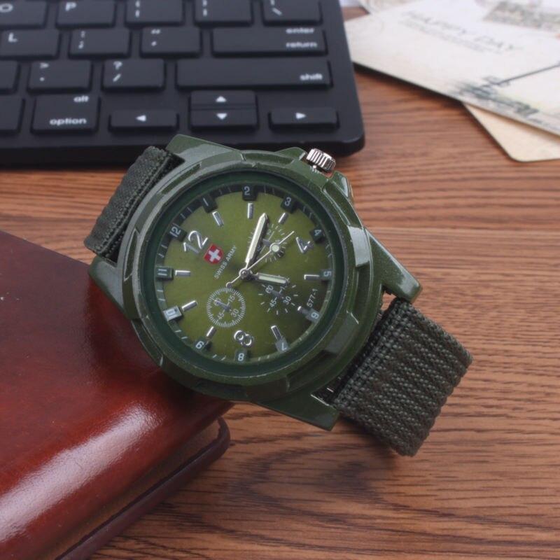 watches men watches sport Watch Genuine Luminous Sport Style Canvas Belt Luminous  quartz watch wristwatches relogio masculino