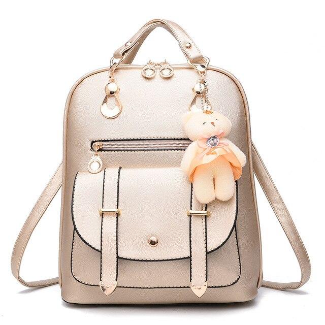 40a52a7675b69 حقائب جلدية الظهر حقيبة 2017 الإناث طلاب المدارس أكياس الأزياء حقائب السفر  الكتف للمراهقات mochilas