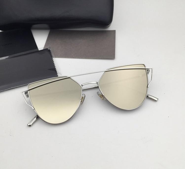 72b917565 كوريا لطيف خمر نظارات شمسية Oculos Gafas دي سول الحب لكمة القط النظارات  الشمسية الرجال النساء مع V شعار و المربع الأصلي oculos