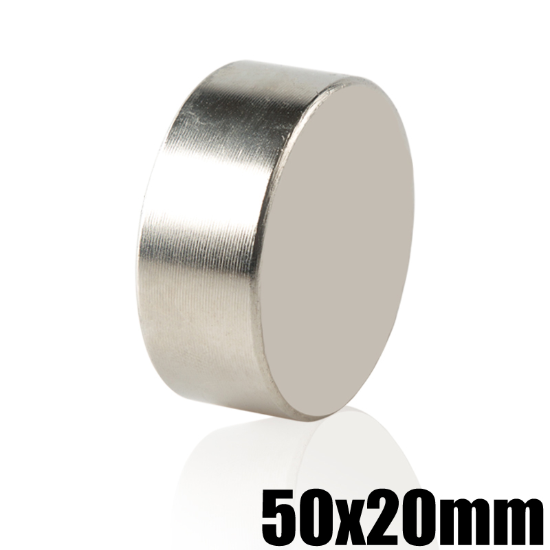 1 Piece N52 Neodymium Magnet 50x20 Permanent NdFeB Super Powerful Strong Magnetic Magnets 50mm x 20mm Magnet Block