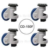 4PCS CD 150F Load Bearing 1500kg Pcs Level Adjustment MC Nylon Wheel And Aluminum Pad Leveling