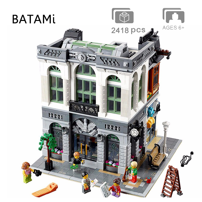 Modelo de Blocos de Construção Tijolos Brinquedos Compatíveis com Os Criadores Da Rua Da Cidade Casa 15001 15002 15003 15004 15005 15006 15007 15008