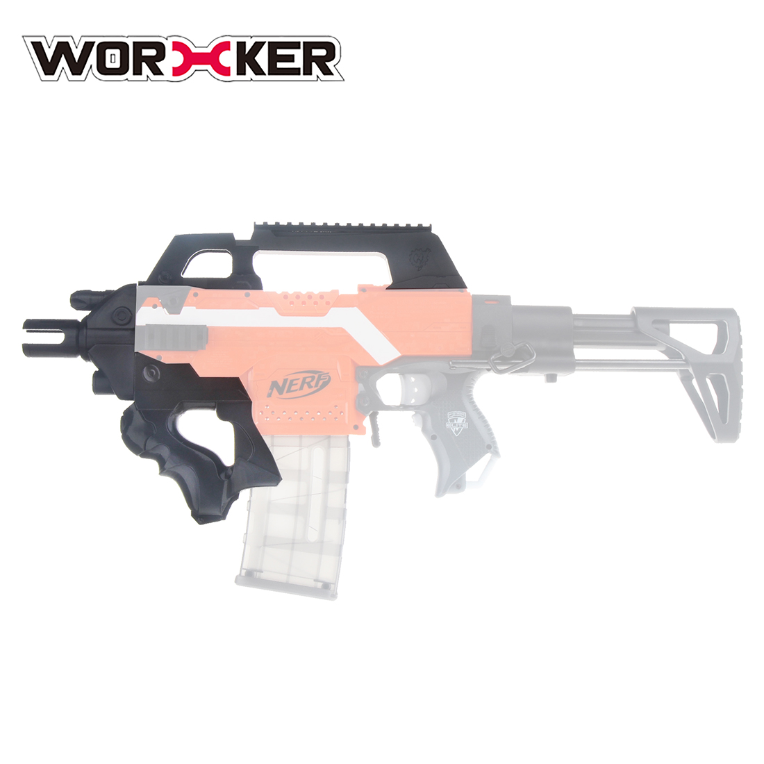 Worker F10555 3D Printing No.193 Thunder Type Front Tube Kit for Nerf Stryfe - Black цена